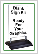 Springer Message Board Sidewalk Sign - Ready For Graphics - Blank