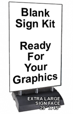 Springer Sidewalk Sign - Ready For Graphics - Blank - EXTRA LARGE