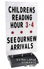 Springer Message Board Sidewalk Sign - EXTRA LARGE