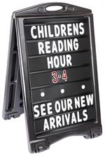 A-Plus Sidewalk Sign Standard with Letters - Black Sign Face