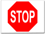 Stop Sign 24x18 Yard Sign - 1 Color