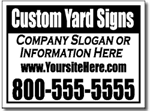 Simple Bandit Yard Sign Template with border and reverse at top.