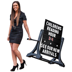 Rolling Swinger Black Sidewalk Sign