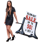 Rolling Swinger Black Sidewalk Sign.  Just roll your signs in for the night