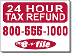 One Color Tax Yard Sign Template