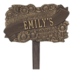 TLC Garden Personalized Lawn Plaque - Bronze / Gold
