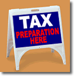 ZQuick Sign - Tax Preparation Here - 2 Color
