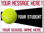 Custom Tennis Sign - 24x18 Yard Sign with Stake