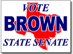Texas Political Yard Sign With Stands