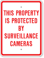 This Property Is Protected By Surveillance Cameras
