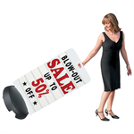 Rolling Tip-N-Roll Message Board Deluxe Sidewalk Sign, simply tilt and pull