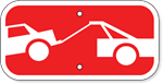 Tow Truck Symbol Stop Sign Placard