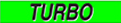 Fluorescent Chartreuse Windshield Decal - Turbo (12 Pack)