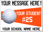 Custom Volleyball - 24x18 Yard Sign with Stake