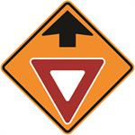 Yield Ahead with Symbol 36 x 36