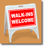 ZQuick Sign - Walk-Ins Welcome