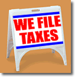 ZQuick Sign - We File Taxes - 2 Color