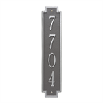 Windsor Vertical Wall Plaque - Standard - Pewter / Silver