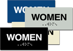 ADA Women Braille Sign - 6'' x 3''