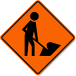 Construction Worker Sign 30 x 30