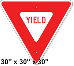 Yield Sign 30 x 30 x 30