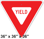 Yield Sign 36 x 36 x 36