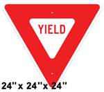 Yield Sign 24 x 24 x 24