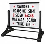 Swinger Roadside Message Board Sign (UPS Shippable)