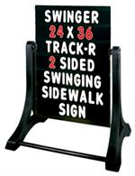 Swinger Sidewalk Sign Kit - Black Face