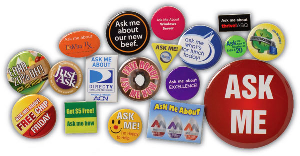 Round Buttons, Political Buttons, Lapel Buttons